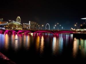 Esplanade Bridge & Benjamin Sheares' Bridge – Singapore
