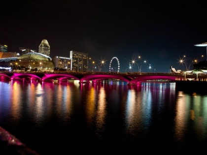 Esplanade Bridge & Benjamin Sheares' Bridge – Singapore